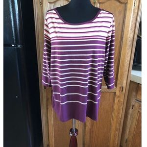 NWT Christopher & Banks Striped Top Size XL
